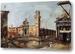 Постер Вход в арсенал города Венеции