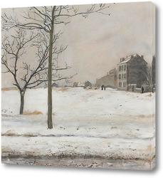 Картина Монмартр под снегом