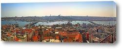 Панорама залива Золотой рог. Стамбул, Турция.