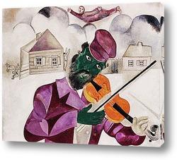 Постер Зелёный скрипач(деталь).