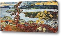 Северная Швеция, весенний пейзаж