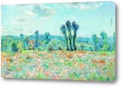 Постер Клод Моне. Утро, поле в Живерни ( копия)