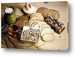 Постер Bread products photographed