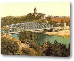 Постер Гибихенштайн Руины, Галле,Саксония, Германия. 1890-1900 гг