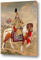 Император Цяньлун в костюме всадника