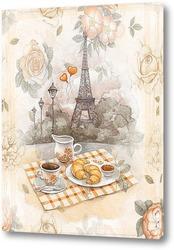Постер Завтрак в Париже