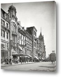 Постер Бостон, штат Массачусетс, 1906