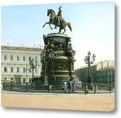 Постер Санкт-Петербург. Николай I, Памятник на Исаакиевской площади
