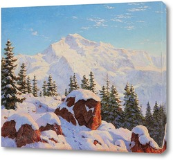Картина Юнгфрау в Швейцарии
