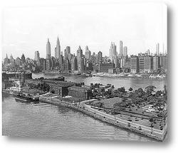 Постер Вид Нью-Йорка с воздуха,1940г.