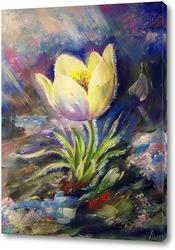 Постер Первые цветы. Подснежник