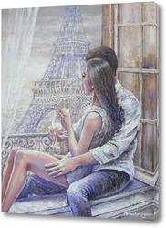 Картина Свидание в Париже.