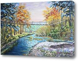 Картина Подвесной мост в Новососедово