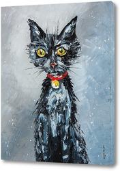 Постер Голодный кот