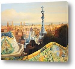 Постер Barcelona Park Guell