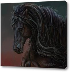 Постер Конь вороной (фриз)