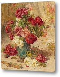 Постер Натюрморт с розами