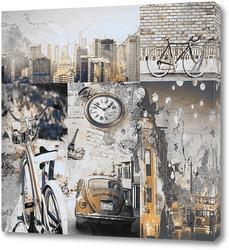 Постер Город в ретро стиле