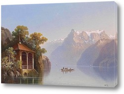 Картина Часовня на берегу озера Люцерн