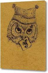 Постер Совенок в шапке