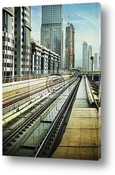 Постер Железнодорожные пути в Дубае