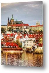 Постер Обзор старой Праги со стороны Карлова моста