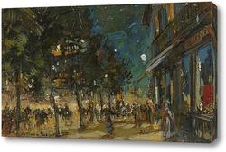 Постер Париж ночью