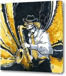 Картина саксофонист