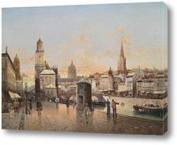 Вид гавани города