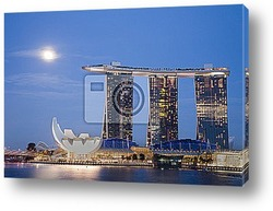 Постер Moon over Marina Bay Sands