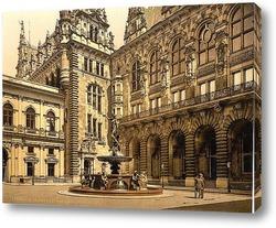 Постер Гамбург, Германия.1890-1900 гг