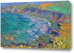 Картина Морской берег, в Тамани.