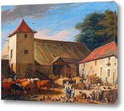 Картина Сельский двор