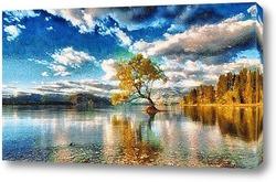 Дерево в воде