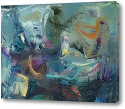 Картина абстрактный натюрморт