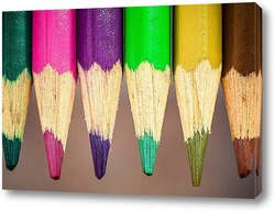 Постер цветные карандаши