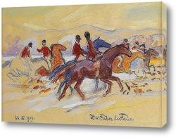 Постер Верховая езда