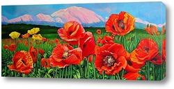 Картина Маки. Красная поляна Сочи.