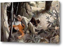 Постер Любовь в лесу