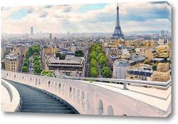 Постер Панорама Парижа
