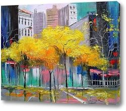 Картина Осень в Чикаго