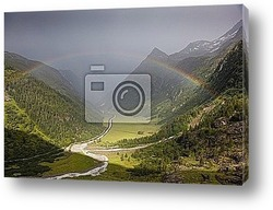 Постер Rainbow in Alps