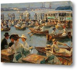 Парусные лодки на озере Ваннзее