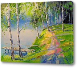 Картина Березы у реки