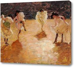 Картина Молодые женщины танцуют канкан, Париж