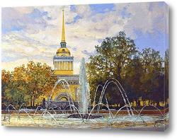 Исаакиевская площадь после дождя
