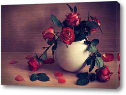 Постер про красные розы