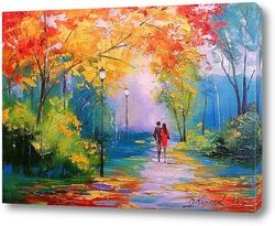 Постер Осенняя прогулка в парке