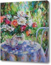 Картина Чай в саду