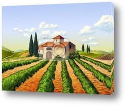 Постер  Итальянский виноградник